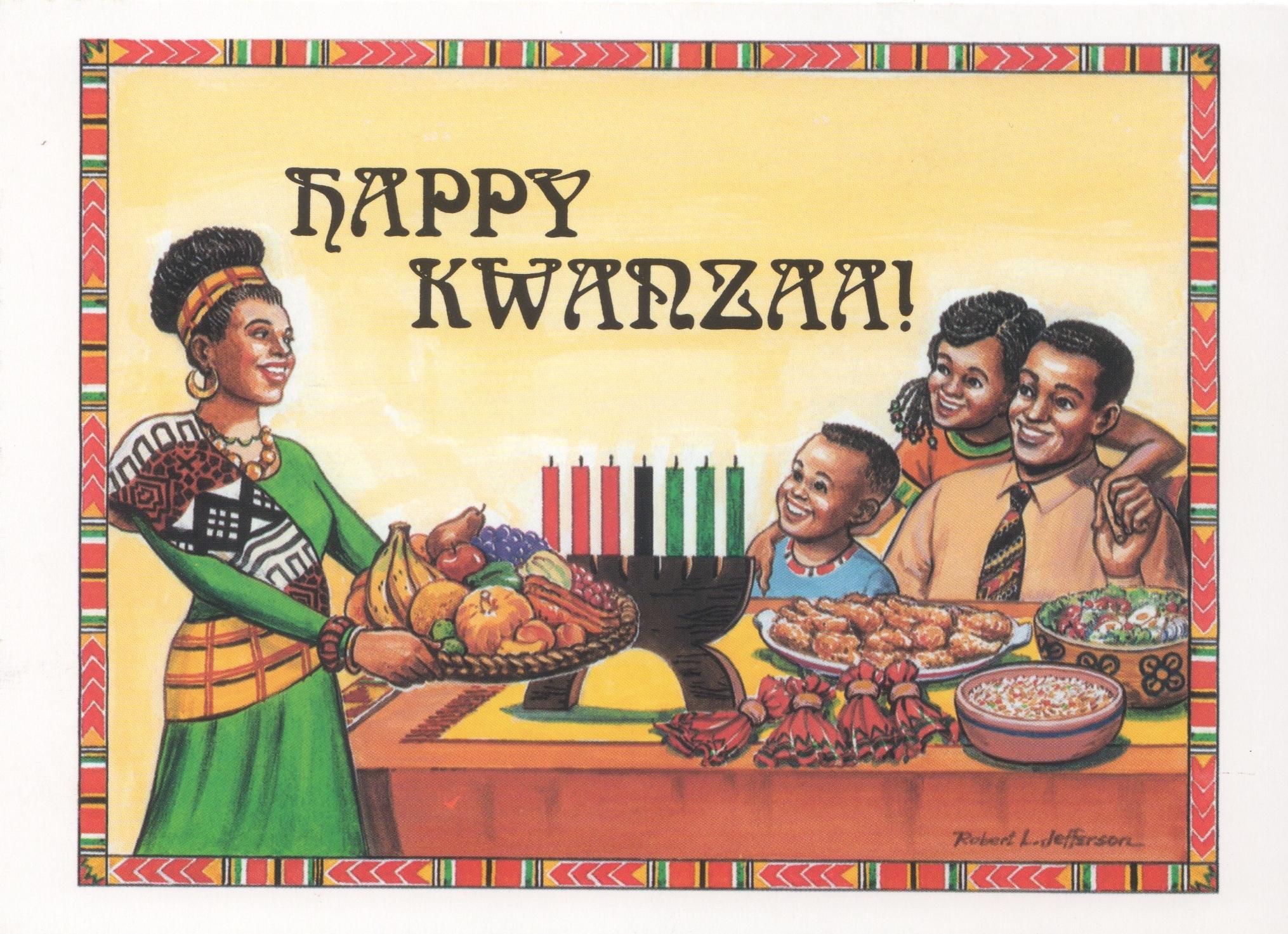 Kwanzaa Card - Family Celebration - JonMar Greeting Cards
